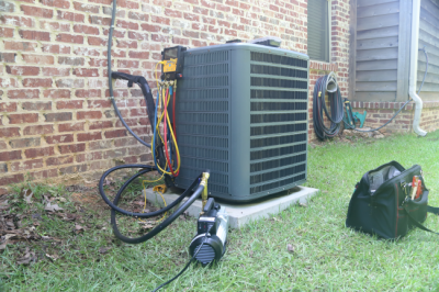 Cleaning off your unit is part of good HVAC maintenance for homeowners in Marion, IN.